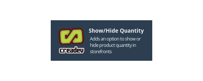 Product Show/Hide Quantity Box
