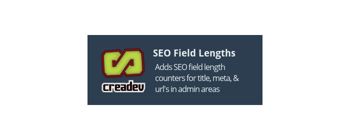 SEO Field Length Counters for Admin