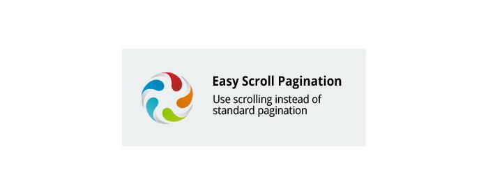 Easy scroll pagination CS-Cart add-on