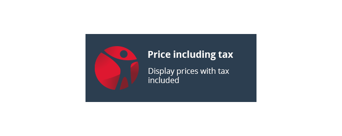 Display Prices including taxes as primary