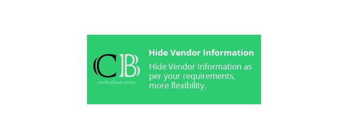 Hide vendor information from cs cart store