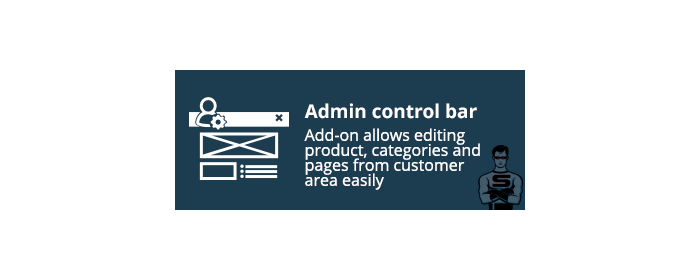 "CS-Cart ""Admin control bar"" add-on"