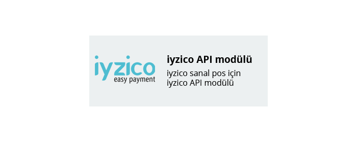 iyzico API Ödeme Modülü