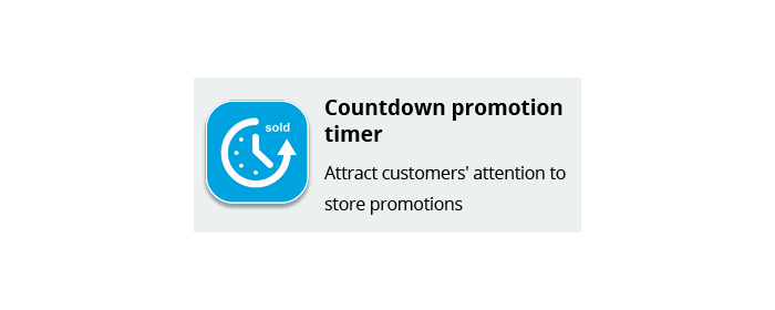 Countdown promotion timer
