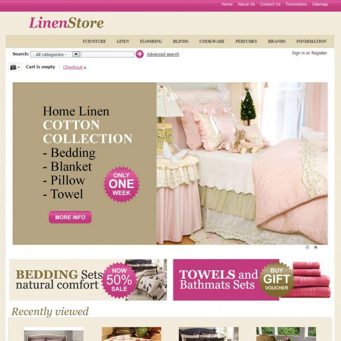 Home Page - CS-Cart Theme cs000012 Linen Rose