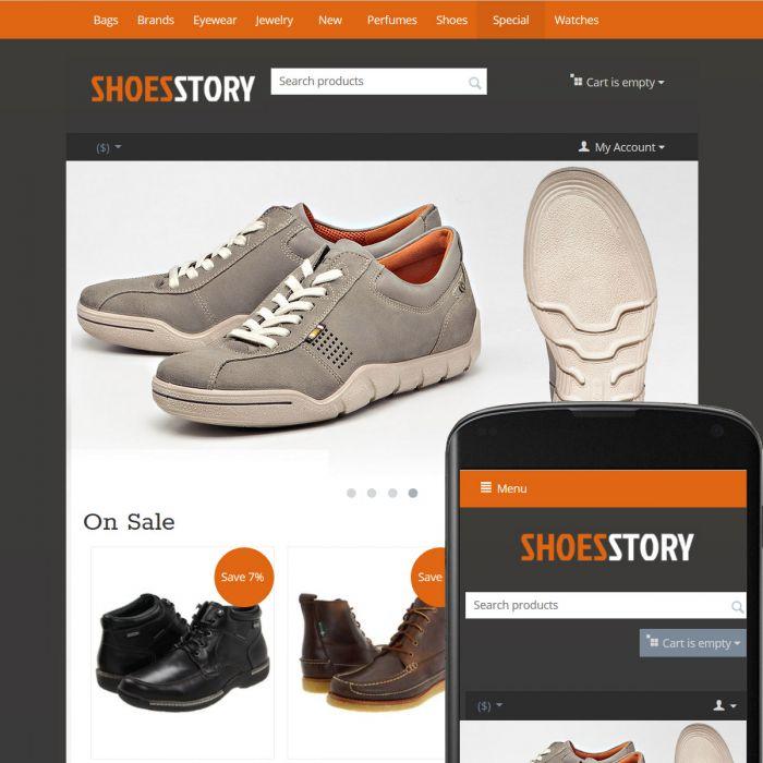 CS-Cart 4 Theme Streets Shoes Orange