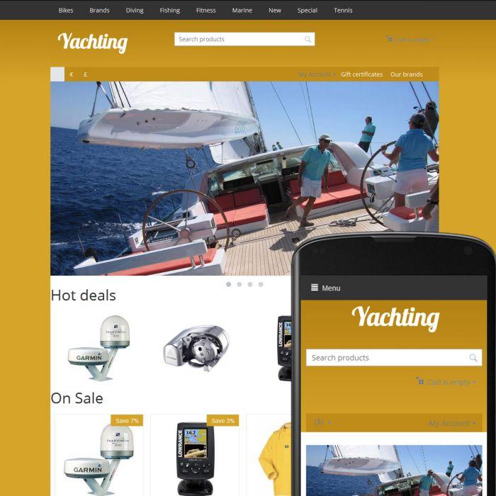 Theme River Yachting Ochre
